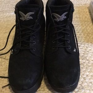 LUGZ black leather boots size 13 good used cond